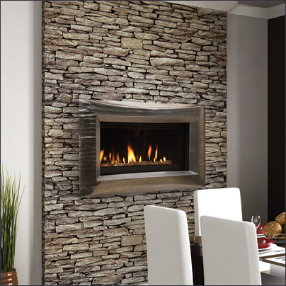 wide view echelon direct vent fireplace system