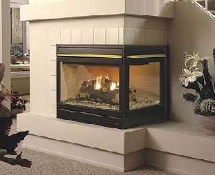 Gas Fireplaces Direct Vent Styles See-Thru (two sided)